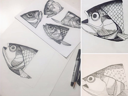 Fish Drawing and Hatching
