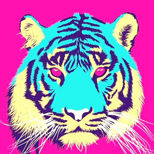 Tiger Symmetry Painting