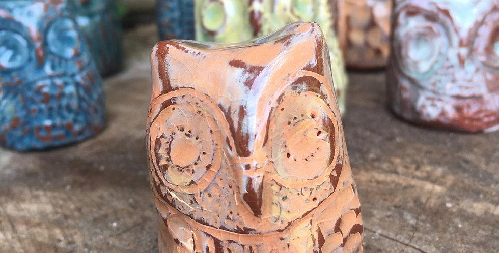 Peach Crackle Owl