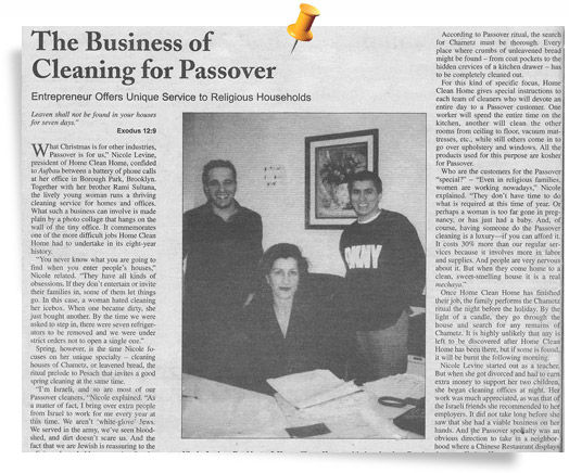 Passover Cleaning Magazine
