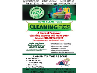 Passover Cleaning Services!