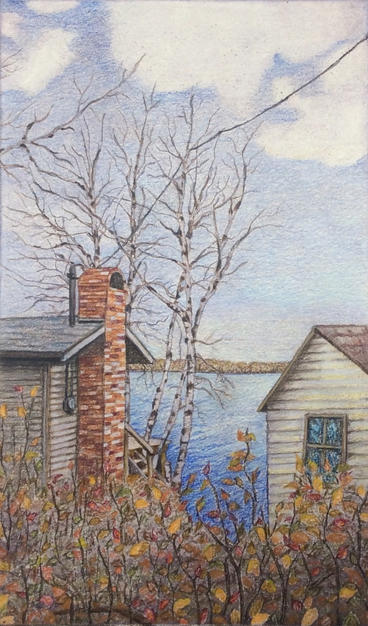 Lakehouse in the Fall