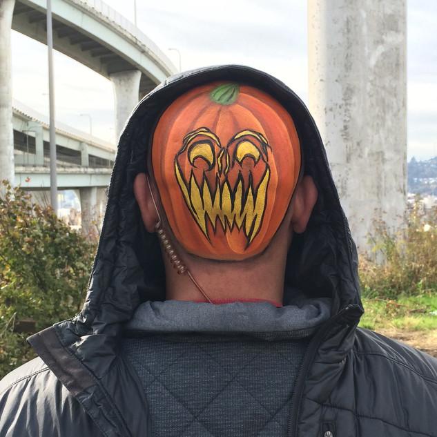 Backwards Pumpkin Head