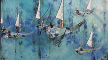 Pinturas de Beth Ribeiro são selecionadas para o Salão de Artes Riachuelo onde recebe prêmio