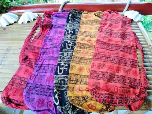 Thin cotton yoga mat bag