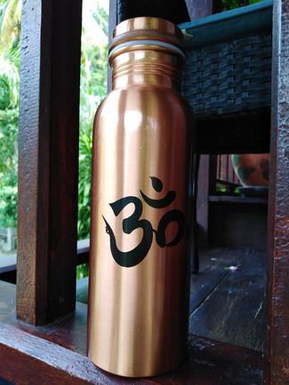 Om Copper bottle