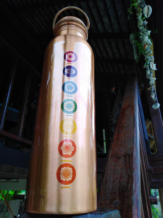 Chakra copper bottle