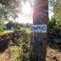 Camping at Fort Cross