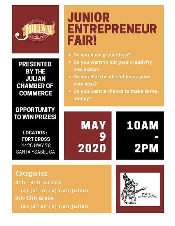 Julian CA Junior Entrepreneur Fair Fort
