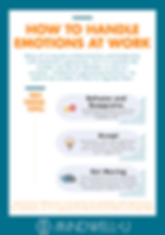 Emotions at work infographic for leadership