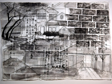 72_Umeyama Painting_Houses after houses.