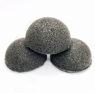 Single (1) Konjac Facial Sponge- Biodegradable Charcoal