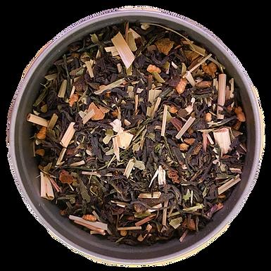 """""""Smokey Miracle"""" Premium Organic Ginseng Mate Black Tea L(30serving tin)"""
