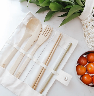 Bamboo Cutlery Travel Set by Eco Roots