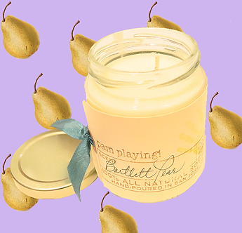 Bartlett Pear Soy Candle by Pam Playing