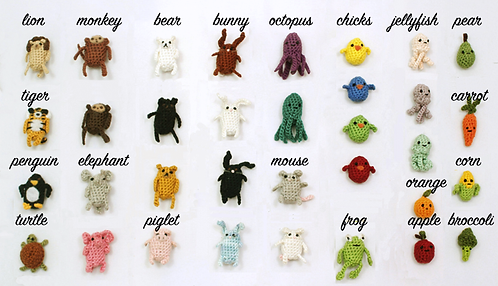 Crocheted Critter Magnets by Alexandria Gold