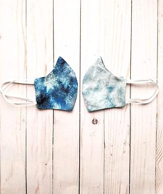 SnowFlakes Reversible Cotton Handmade Mask by Eraeon
