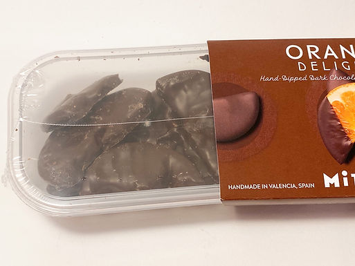Caro Orange Delights Chocolate Dipped Candied Orange Slices Box of 12