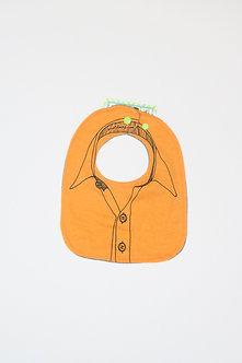 """Business Baby"" Orange Bib by Tawny McCann"