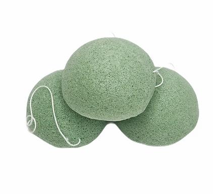 Single (1) Konjac Sponge Biodegradable Green Tea