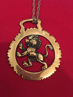 Antique Brass Horse Ornament on chain