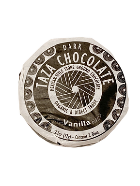 Organic Stone Ground Vanilla 50% Dark Chocolate Discs by Taza Chocolate