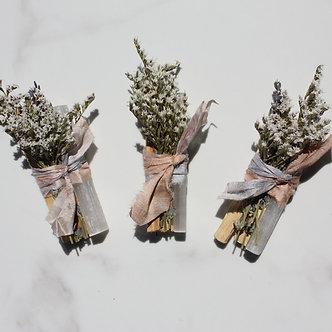 Palo Santo + White Selenite Sustainable Smudge Stick by Black+ Jane