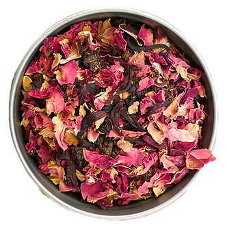 """Red Dress"" Organic Rooibos Tea Blend L(30 serving tin)"