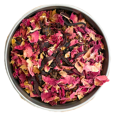 """Red Dress"" Organic Rooibos Tea Blend L(30 serving tin)"