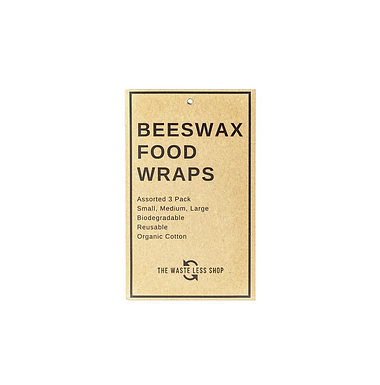 Plain Beeswax Food Wraps (3 pack) by The Waste Less Shop