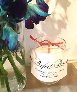 Perfect Pear Soywax Wineglass Candle