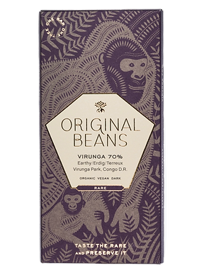 Organic Cru Virunga 70% Dark Chocolate Bar by Original Beans