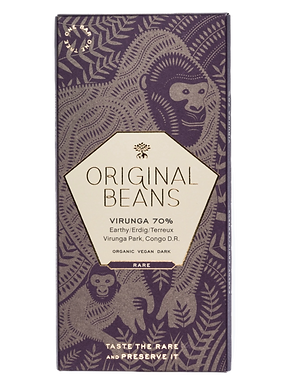 Organic Cru Virunga 70% Dark Chocolate Bar by Original Beans