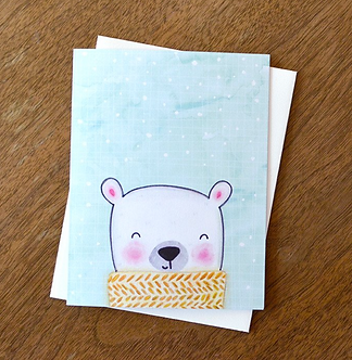 Winter Bear Card by Pennie Post