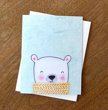 Winter Bear Card by Pennie Post