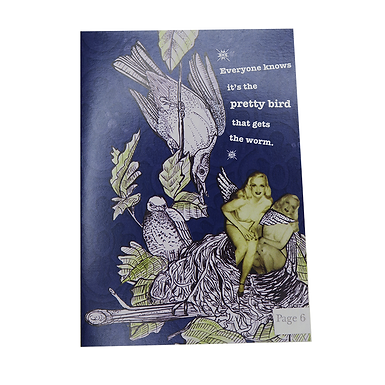 Everyone knows it's the pretty bird that gets the worm Card by Go Jet Go Designs
