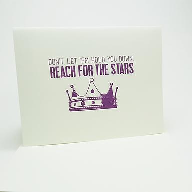 Reach for the stars Card by Coffee n Cream Press
