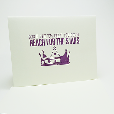 Reach for the stars Card by Coffee n Cream Press