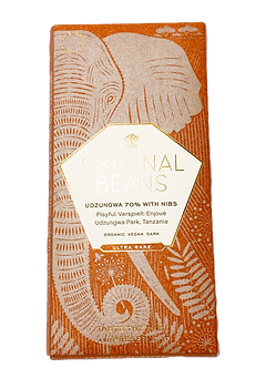 Organic Cru Udzungwa with Nibs 70% Dark Chocolate by Original Beans