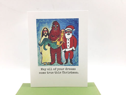 """""""May all your dreams come true this Christmas"""" Card by Unmedicated Cards"""