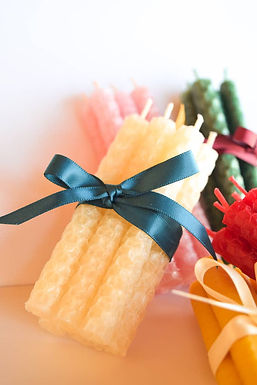 Beeswax Birthday Candles (Set of 6)