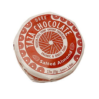 Taza Organic Chocolate Mexicano Salted Almond 40% Dark Discs