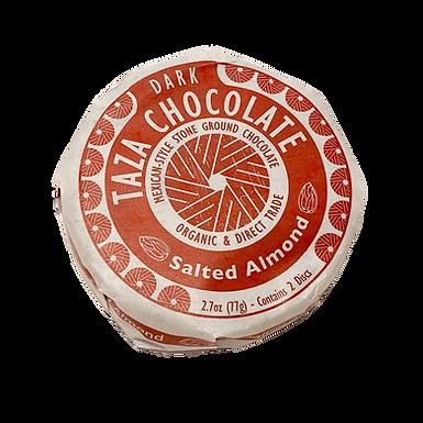 Organic Stone Ground Salted Almond 40% Dark Chocolate Discs by Taza Chocolate