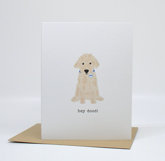 Hey Dood Card by Pennie Post