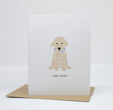 Hey Dood Card by Pennie Post