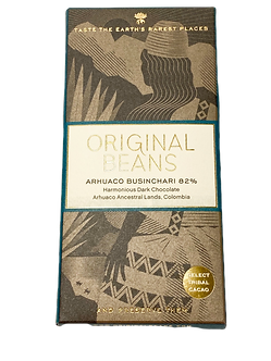 Organic Arhuaco Businchari 82% Dark Chocolate Bar by Original Beans