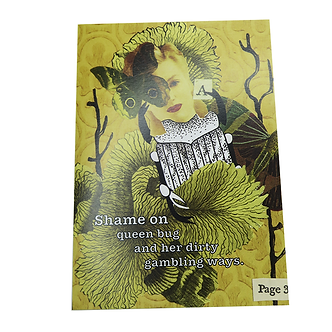 Shame on queen bug Card by Go Jet Go Designs