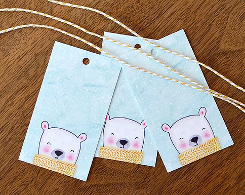 Set of 12 Polar Bear Holiday Tags by Pennie Post