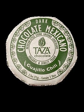 Organic Stone Ground Guajillo Chile 50% Dark Chocolate Discs by Taza Chocolate