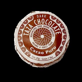 Organic Stone Ground Cacao Puro 70% Dark Chocolate Discs by Taza Chocolate